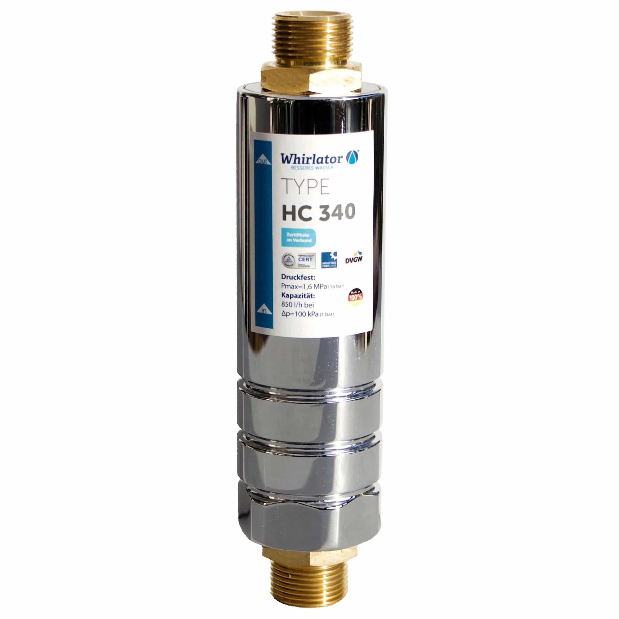 Connexion pour le traitement de l'eau potable Whirlathor HC 340